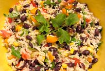 Basmati Rice with Summer Vegetable Salad / The Basmati Rice and Summer Vegetable Salad is a bright and vivacious combination of spices, vegetables, and flavors that can enhance any summer meal. It is a light and healthy snack for those both looking for excellent taste and a smaller waistline. Basmati rice is complimented beautifully by different herbs, nuts, and shallots to create a freshly bold taste that all can enjoy. Visit http://bestlifeblueprint.bizblueprint.com/healthy-recipies/basmati-rice-with-summer-vegetable-salad