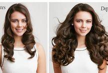 Antes e Depois de Mega Hair / Antes e depois de mega hair,os resultados reais, sem efeito de escova, chapinha ou babyliss, efeitos naturais sem qualquer tipo de maquiagem.