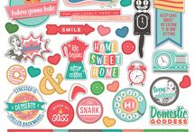Slightly Sassy / Slightly Sassy scrapbook collection by Leah Riordan and Becky Fleck