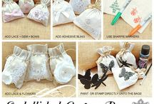Ideas & Inspirations from Embellishment Gallery: Canvas Favour Bags / Making your own Canvas Favour Bags