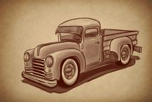 Pickup Sketches / Pickup and Rod Sketches