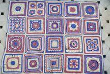 Crochet afghans: CAL mixed squares / Crochet a Long
