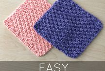 Free pattern for textured knit dishcloth