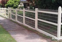 Wire timber fence