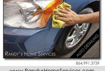 Vehicle Detailing / Randy's Home Services provides detailing services for vehicles