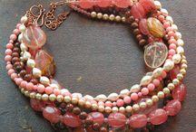 Jewelry Bracelets - pink red orange