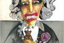 O SORRISO DE FRIDA KAHLO / Ilustrações baseadas em cartas de personagens fictícios,envolvidos em dramas sexuais e contextos políticos.