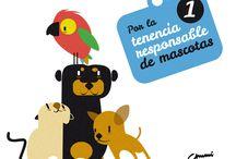 Por la tenencia responsable / Ilustraciones para la tenencia responsable de nuestras mascotas. Consulta con tu veterinario para cuidar adecuadamente la salud física y psíquica de tu animal de compañía. Los propietarios responsables contribuyen a mantener la salud de todos y velan por la buena armonía en sociedad.