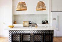 Cement Tile / Ideas for backsplashes and floors.