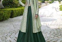 Nakkashi Anarkali Suit [Custom Order] / by Deshi Besh