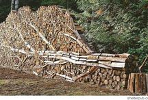 Garden Ideas :)  Firewood stacks!