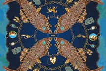 Clarice Jewellery x Laura Dean Printed Vintage Inspired Silk Scarves