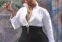 Orobo Girl Beautiful in Black n White / Black and white outfit ideas to flatter the Orobo (big) girl figure