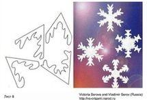 hópehelygyűjtemény és egyéb kivágnivaló díszek, papírminták, sablonok....