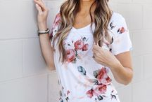 Fashion Tops / Fashionable tops such as Tees, blouses, tunics, sweaters, etc.