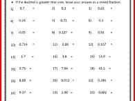decimals/fractions