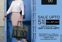 "Shop Gorgeous Stuff! Hurry! Only 2 days left! / Guys, 2 days left for the End of Season Sale Upto 51% off at Baggit! Hurry to get a load of gorgeous bags that you will love and deals you would not want to miss. Also, get additional 5% discount by sending us an SMS ""Baggit Age Gender Profession"" to 9664172929. Enjoy the pleasures of shopping on 19th & 20th July 14'at Our Exclusive Stores & www.baggit.com"