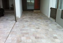 Beautiful flooring / Floors that takes my breath away Travertine and marble timber and concrete