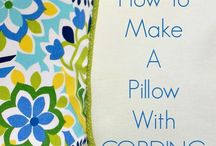 Sewing throw pillows
