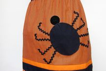 Halloween DIY / DIY Halloween patterns include apron, placemats, and many more