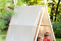 a-frame tent inspiration / by Berried Treasures