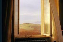 Through the windows and doors
