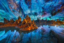 Paysages, mondes souterrains et marins