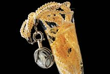 Champagne cap jewellery