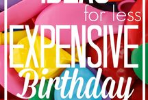 Frugal birthday parties / Great money saving ideas for childrens birthday parties