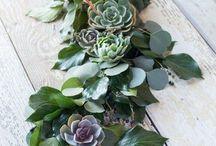 wedding table garland/chemin de table