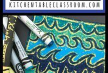 crayons and sandpaper