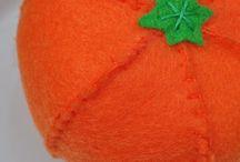 felt foods - oranges