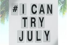 J U L Y P R O J E C T / Trying 31 days in July where you try something different to promote health and well being in your life.