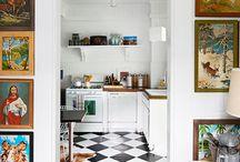 Black & White Chequered Floor Spaces