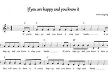 Free Music Scores of Children Rhymes / Music Sheets of various Children Songs
