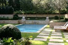 pools and gardens and exteriors