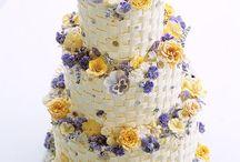 Purple yellow wedding