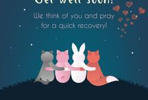 Get well soon / A family member, a friend or someone special in your life in bed is no happiness indeed, so wish them a speedy recovery with our warm and cute Get Well Soon pop up cards.