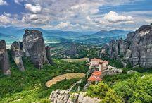 Roussanou Monastery in Meteora, Greece #HeathrowGatwickCars.com