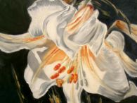 IMPERIAL LILY (for sale) / painting oil on canvas, original