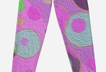Art on Leggings and Pants / Here's some wild art printed on clothing! Love those leggings!