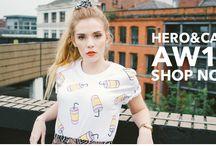 // HERO&CAPE LOOKBOOK / womenswear and menswear / www.heroandcape.com
