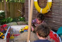 Outdoor Play Spaces & Kids Gardens / by Cathie Filian