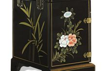 Chinoiserie Decor / Featuring classic hand painted decorative accents with French and Chinese influence.