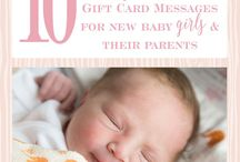 New Baby Gift Card Messages ♥ / Find the perfect gift card message and best wishes for new baby gift cards.
