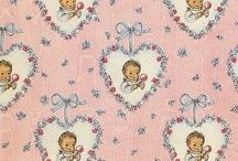 VINTAGE WRAPPING PAPER / by Linda Maus
