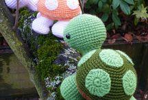 żółwie - szydełko / turtles crocheted, amigurumi