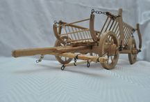 cart / cart of wood miniature
