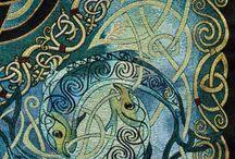keltic/Irish folk art / symbolen en patronen uit de Ierse en Keltische traditie