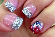 4th of july nails / by Ryry A (I Follow Back)